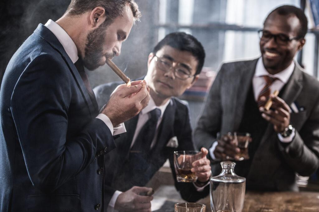Business Men Smoking Cigars